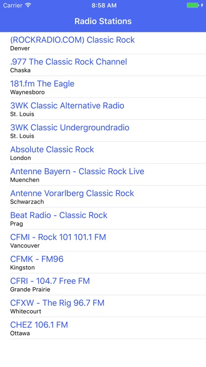 Radio Channel Classic Rock FM Online Streaming by Kai Hoeher