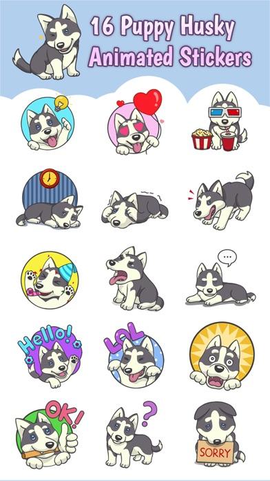 Playful Husky Animated Sticker