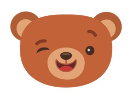 Can you imagine anything more pleasant than sending Bear sticker on st