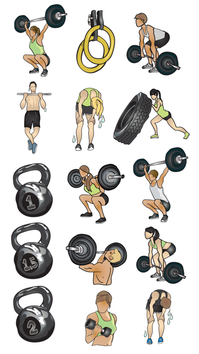 Crossfit & Weightlifting Stickers and Emojis screenshot three