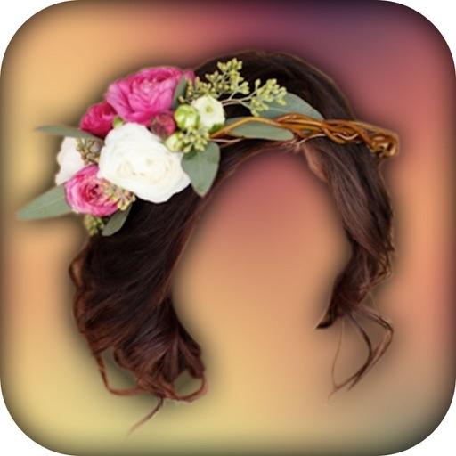 Wedding Flower Crown Hairstyle Photo Editor By Bhavik Savaliya