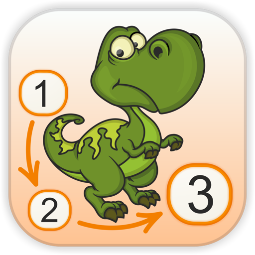 Dinosaurs - Connect the Dots and Add Colors - Free