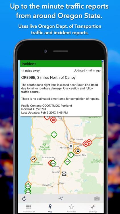 Oregon Roads - Traffic Reports & Cameras screenshot-0