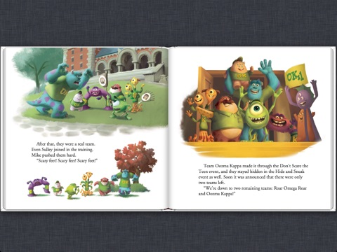 calliope glassの monsters university read along storybook をapple