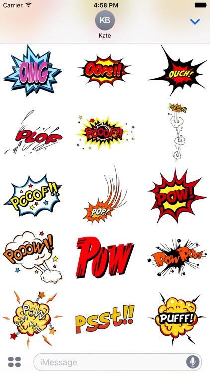 Comic Stickers #1-Pop Art for iMessage screenshot-3