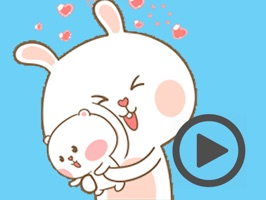 Bear and Rabbit Love Animated