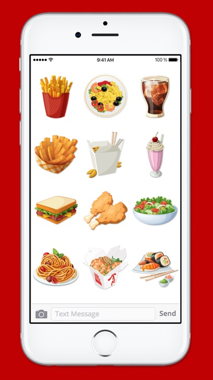 Lets Go To Lunch Food Sticker Pack screenshot-3