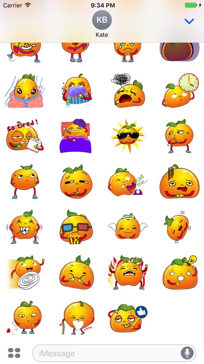 Emoji Oranges Stickers screenshot-3