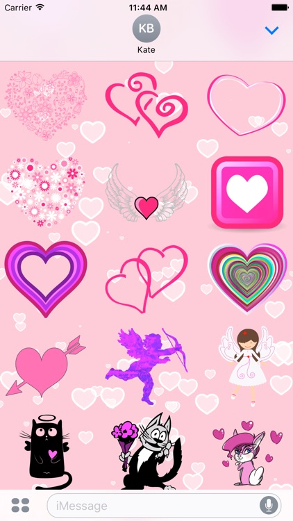 Pink Love • 100 stickers for iMessage screenshot-3