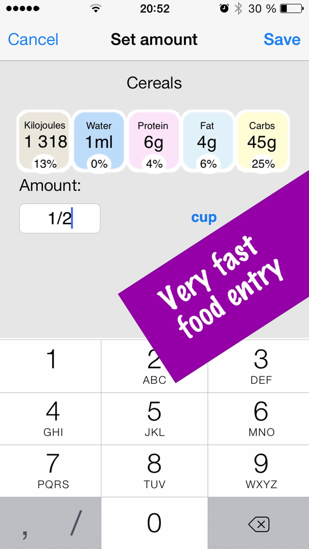 Kilojoule Counter & Diet Tracker: Lose Weight Fast Screenshot
