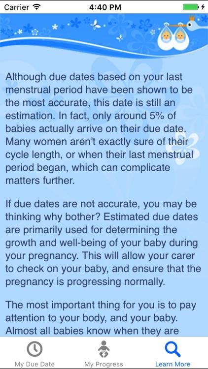 MyDueDate - pregnancy progress tracker screenshot-4