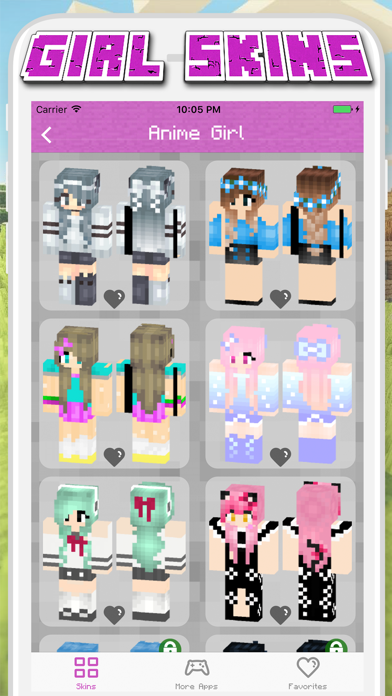 Girl Skins for Minecraft PE - MCPE Skins Free Screenshot