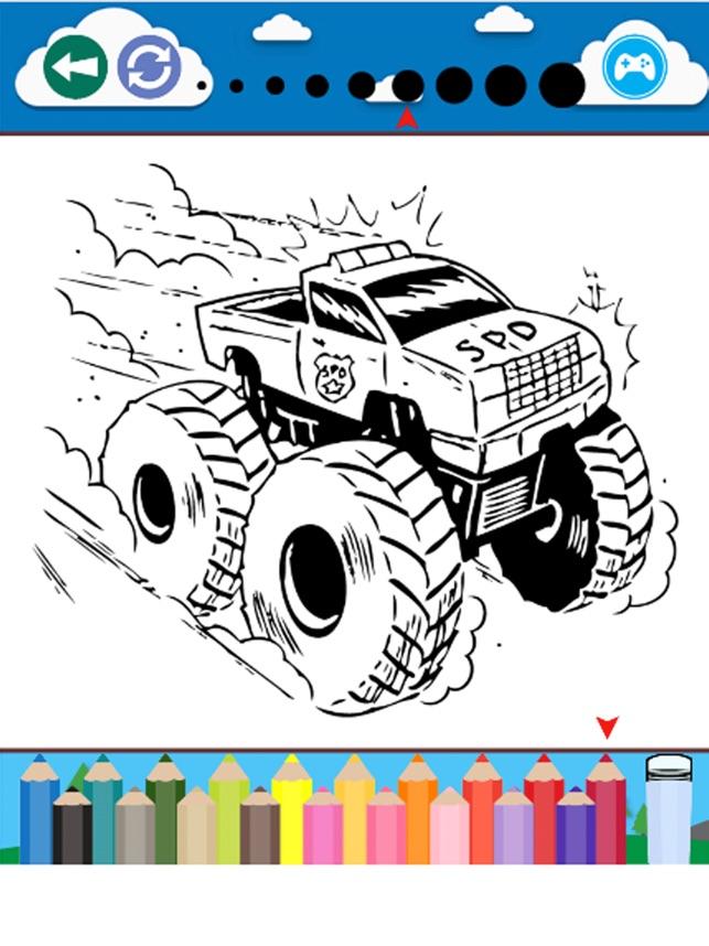 Monster Truck Juegos para colorear Libro en App Store
