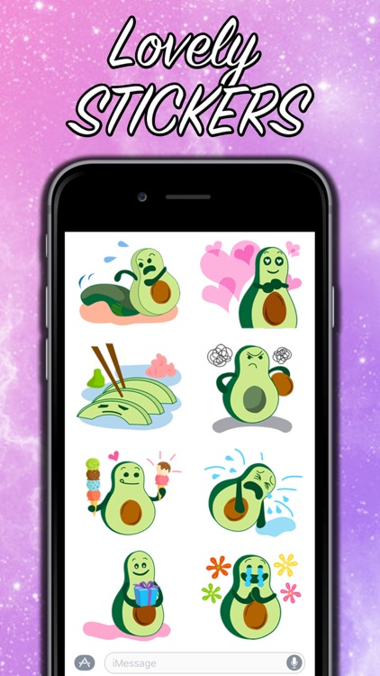 Avocado Party > Cool Stickers! screenshot-3