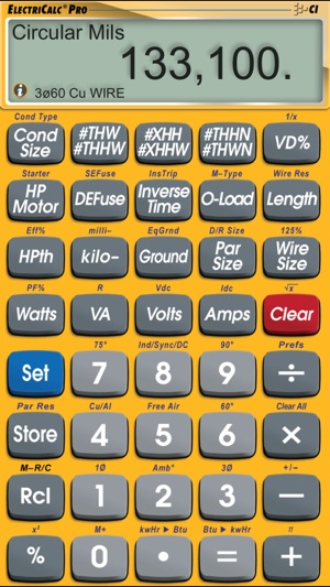 Electricalc pro advanced nec code calculator on the app store greentooth Choice Image