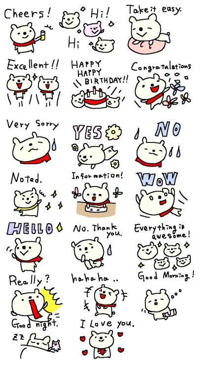 Pop Bear Stickers!!
