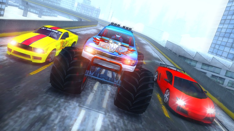 Crazy 4x4 Monster Truck Racer 2017-Stunt Racing 3D screenshot-4