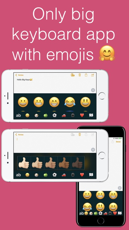 Big Keys: Large Keyboard & Emoji QWERTY Magnifier
