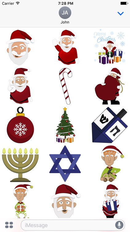 Animated Holiday Stickers for Christmas & Hanukkah