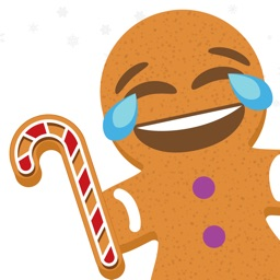 Ginger.Moji - Gingerbread emoji man Xmas stickers