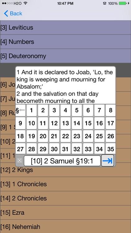 Bible YLT version (Young's Literal Translation) screenshot-3