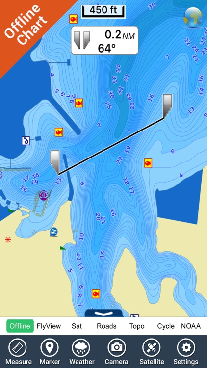 Oklahoma lakes - fishing Hd gps charts navigator screenshot-3
