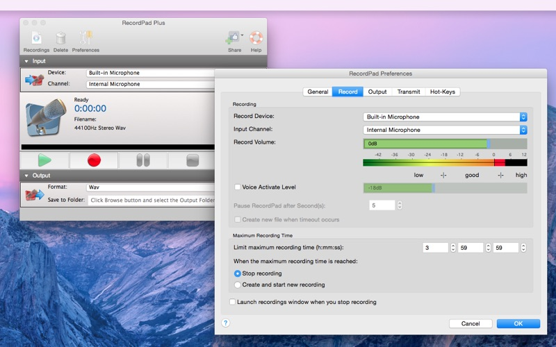 RecordPad Screenshot