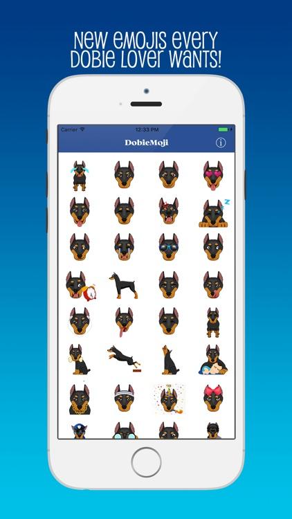 DobieMoji: Emojis for Doberman Pinscher Lovers!