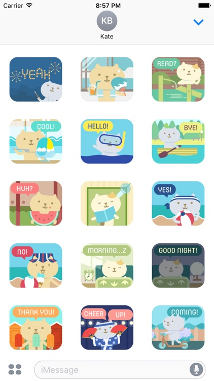 Summertime Stickers for iMessage by Design 73