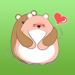 Animated Couple Fat Bear Sticker