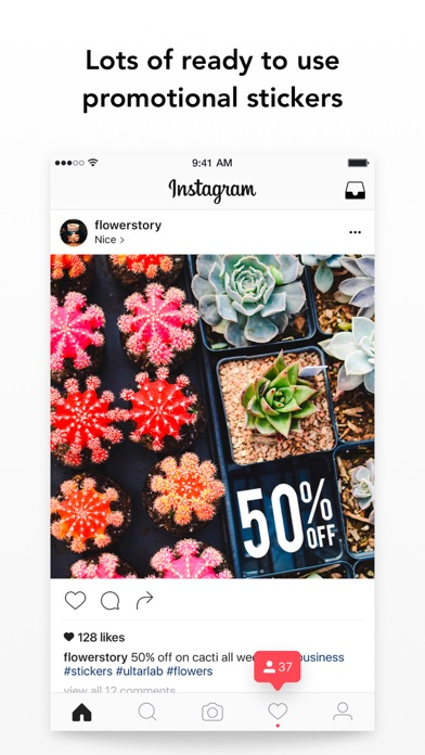 Stickers for Business: Photo Overlays with Deals screenshot three