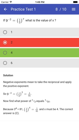 SAT Maths Practice Tests - No Calculator on the App Store