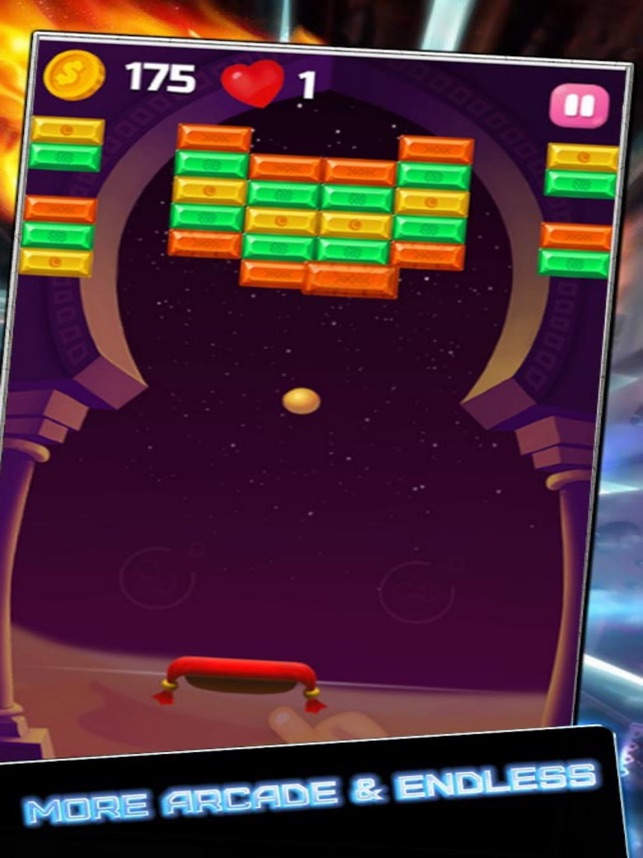 Blue Night Shoot Bricks, game for IOS