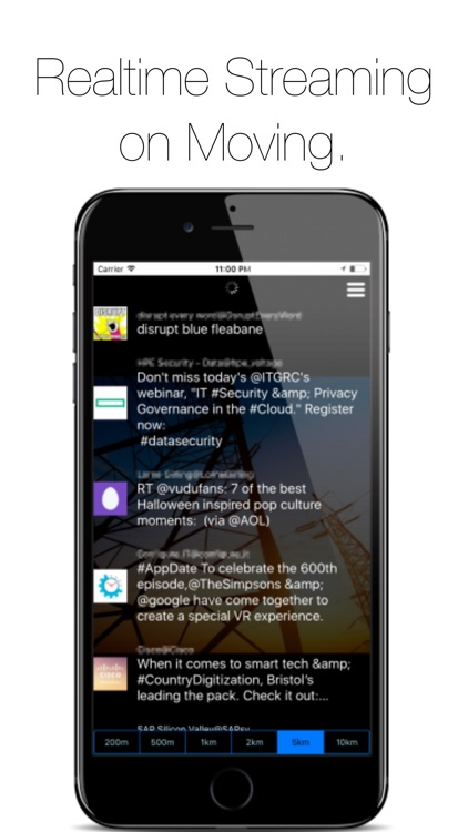 Streaming Tweets Around You - NearbyTweets