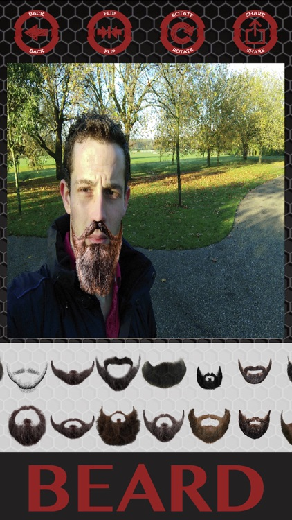 Beard and hair stickers mustaches photo editor screenshot-3