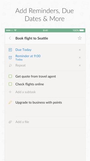 wunderlist to do list tasks on the app store