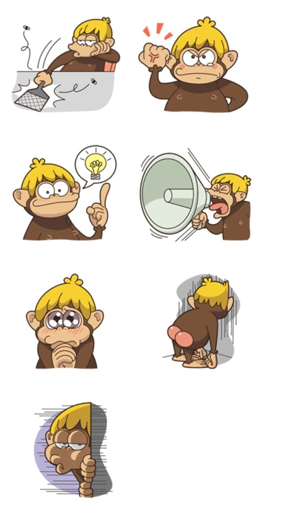 Adventurous Monkey Stickers screenshot-4