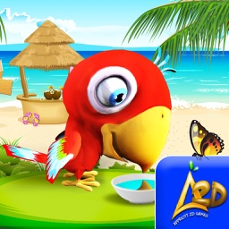 Talking Parrot Virtual Pet Bird simulator for kids