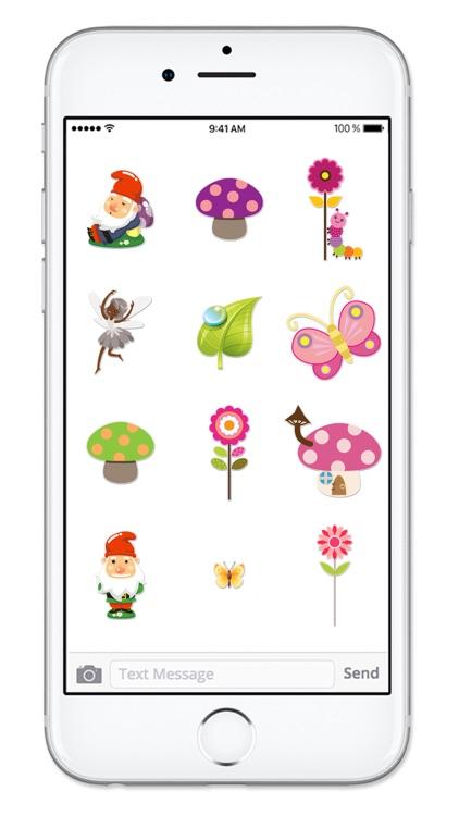 Fairy and Gnome Garden Sticker Pack screenshot-4