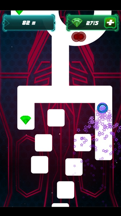 Follow the Line 2: Glow space, finger slide game