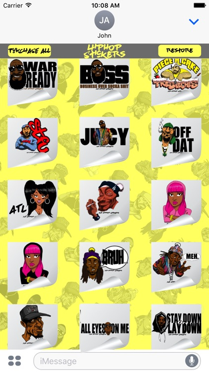 Hiphop Stickers Vol 1 screenshot-4