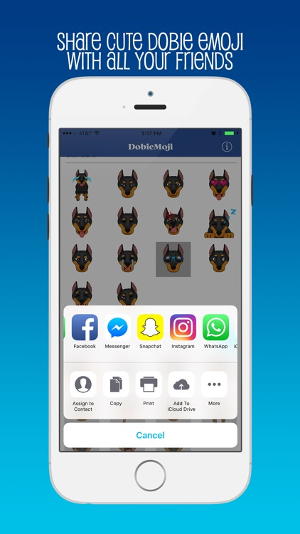 DobieMoji: Emojis for Doberman Pinscher Lovers! screenshot-3
