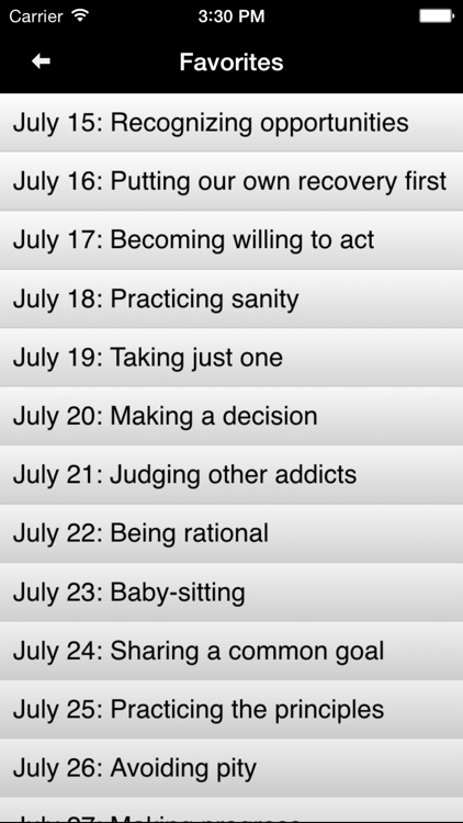 Day by Day: Meditations for Addicts in Recovery screenshot-3