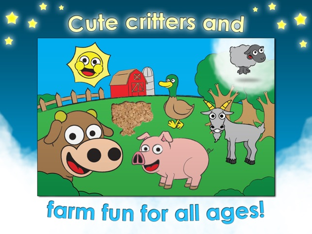 Farm Games Animal Puzzles for Kids Toddler Apps Screenshot