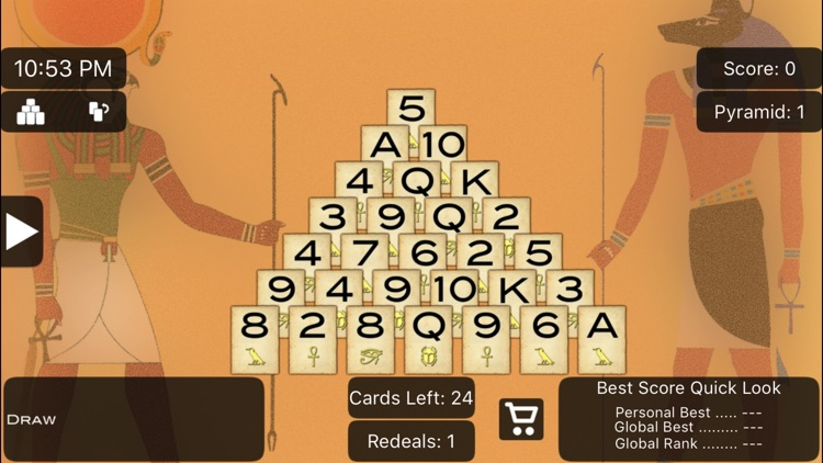 Pyramid Solitaire Lite