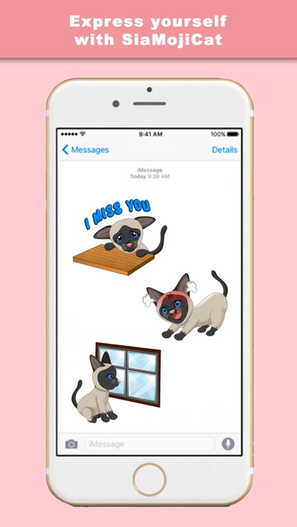 SiaMojiCat - Stickers & Keyboard for Siamese Cats screenshot-3