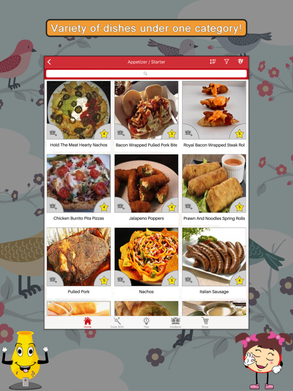 Spicy Recipes SMART Cookbook screenshot
