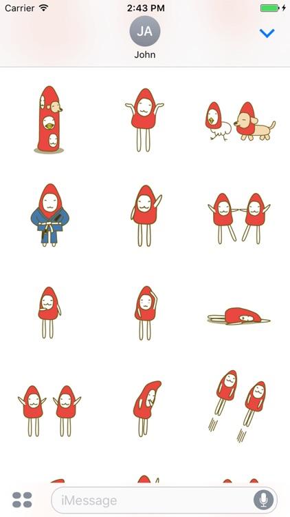赤いトンガリさん