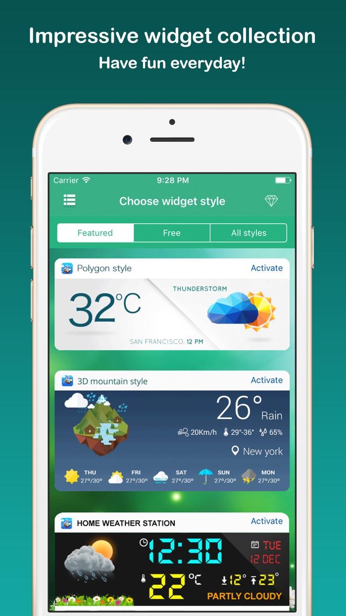 Weather Widget - Unique styles Screenshot