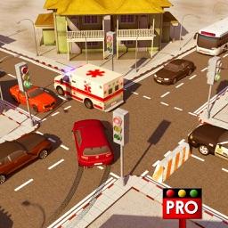 City Traffic Control Rush Hour Driving 3D Sim: PRO